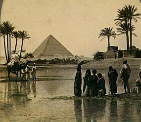 Egypt - Pyramidy - pohlednice z 19. století