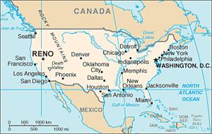 Reno - mapa
