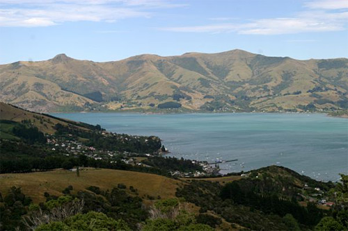 Waitangi Akaroa - celkový pohled